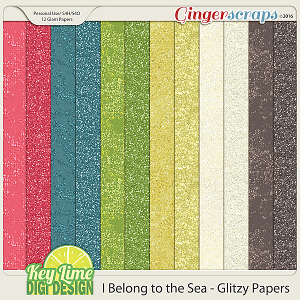 I Belong to the Sea - Glitzy Papers