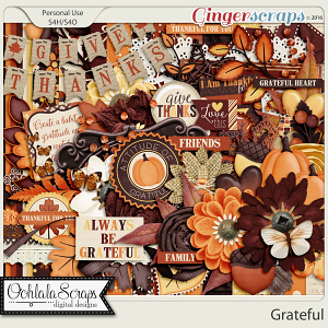 Grateful Digital Scrapbooking Kit