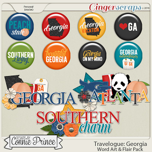 Travelogue Georgia - Word Art & Flair Pack