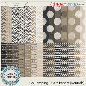 Go Camping - Extra Papers - Neutrals