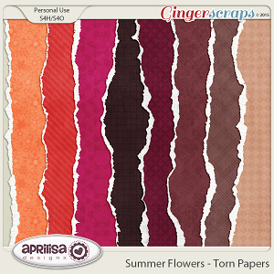 Summer Flowers - Torn Papers by Aprilisa Designs