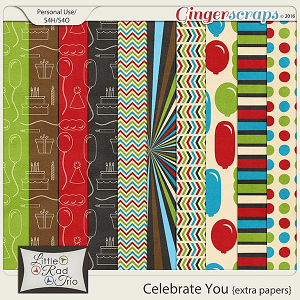 Celebrate You {extra papers} by Little Rad Trio