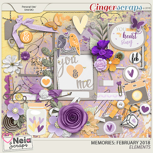 Memories: February 2018 - Elements- by Neia Scraps