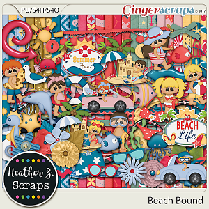 Beach Bound KIT by Heather Z Scraps