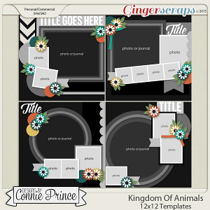 Kingdom Of Animals - 12x12 Templates (CU Ok)