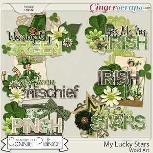 My Lucky Stars - WordArt Pack by Connie Prince