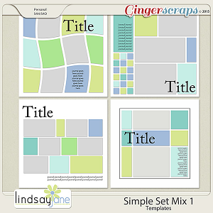 Simple Set Mix 1 Templates by Lindsay Jane