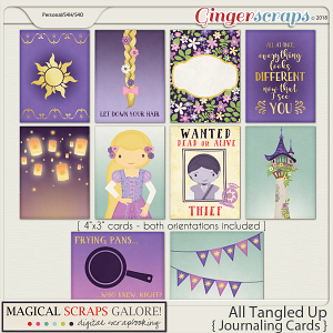 All Tangled Up (journaling cards)
