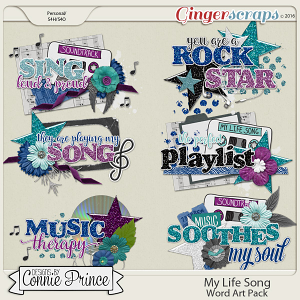 My Life Song - WordArt Pack