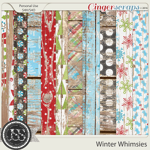 Winter Whimsies Worn Wood Papers