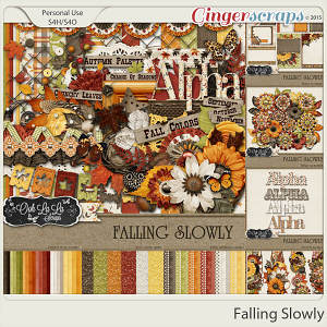Falling Slowly Digital Scrapbooking Collection