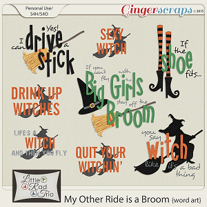My Other Ride is a Broom {wordart} by Little Rad Trio