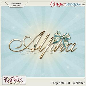 Forget-Me-Not Alphabet