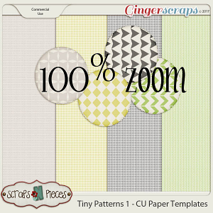 Tiny Patterns 1 CU Paper Templates - Scraps N Pieces