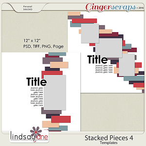 Stacked Pieces 4 Templates by Lindsay Jane