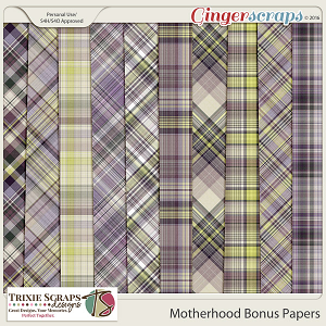Motherhood Bonus Papers by Trixie Scraps Designs