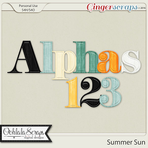 Summer Sun Alphabets