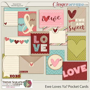 Ewe Loves Ya? Pocket Cards by Trixie Scraps Designs