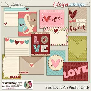 Ewe Loves Ya? Pocket Cards by Trixie Scraps Designs