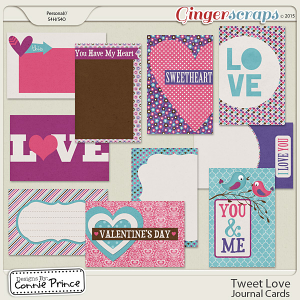 Tweet Love - Journal Cards