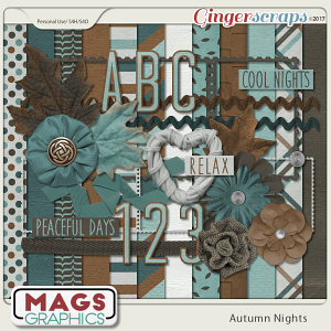 Autumn Nights KIT & ALPHA by MagsGraphics