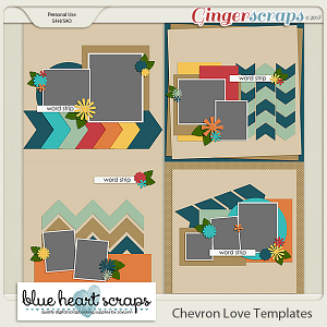 Chevron Love Templates