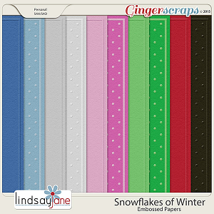 Snowflakes of Winter Embossed Papers by Lindsay Jane