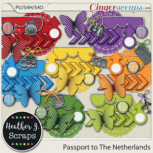 Passport to The Netherlands ACCENTS by Heather Z Scraps