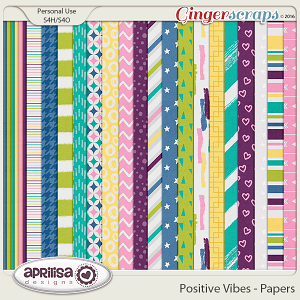 Positive Vibes - Papers by Aprilisa Designs