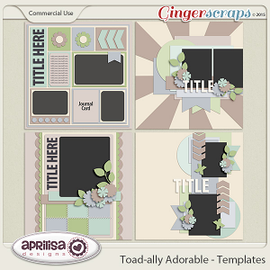 Toad-ally Adorable - Template Pack