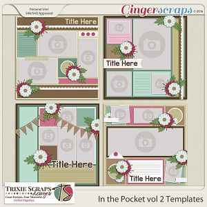 In the Pocket vol 2 Template Pack by Trixie Scraps Designs