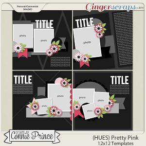 {HUES} Pretty Pink - 12x12 Temps (CU Ok)