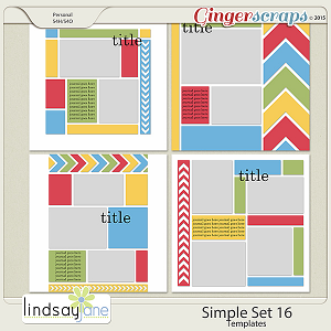 Simple Set 16 Templates by Lindsay Jane