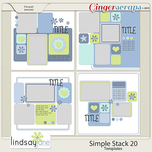 Simple Stack 20 Templates by Lindsay Jane