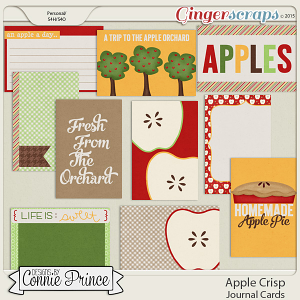 Apple Crisp - Journal Cards