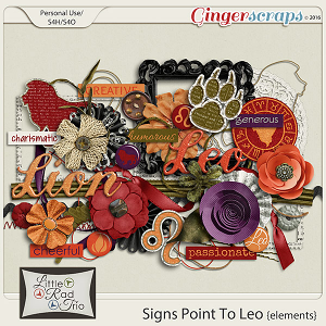 Signs Point to Leo {elements} by Little Rad Trio