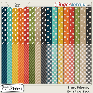 Furry Friends - Extra Paper Pack