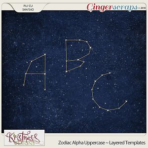 CU Alpha Constellations Layered Templates (Uppercase)