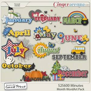 Retiring Soon - 525,600 Minutes - Month WordArt Pack