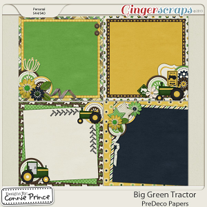 Retiring Soon - Big Green Tractor - PreDeco Papers