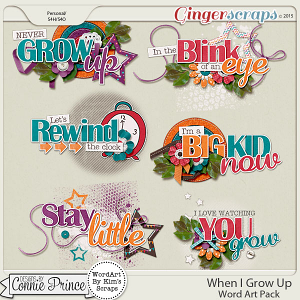 When I Grow Up - Word Art