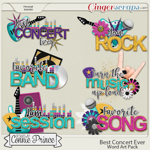 Best Concert Ever - Word Art Pack