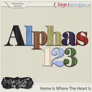 Home Is Where The Heart Is Alphabets