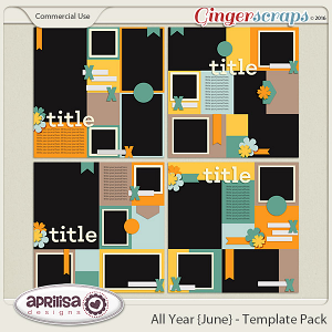 All Year {June} - Template Pack