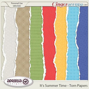 It's Summer Time - Torn Papers