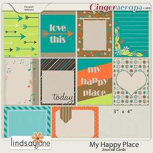 My Happy Place Journal Cards by Lindsay Jane