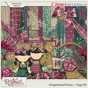 Gingerbread Kisses Page Kit