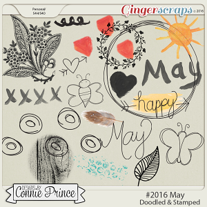 #2016 May - Doodles & Stamps