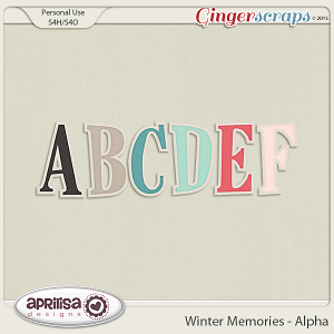 Winter Memories - Alpha by Aprilisa Designs
