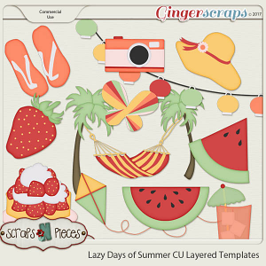 Lazy Days of Summer CU Layered Templates - Scraps N Pieces